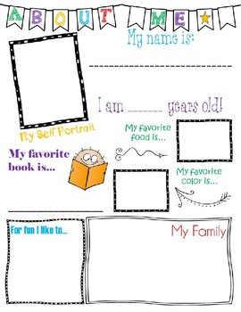 About Me for Students! (Editable Signature)