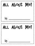 About Me student booklet