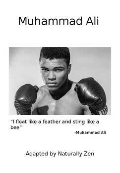About Muhammad Ali - Adapted Book Editable /Black History Month