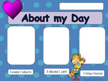 About My Day - Take home sheets for expressive language
