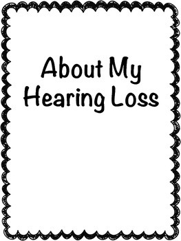 About My Hearing Loss