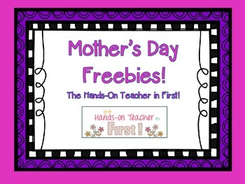 About My Mom: Mother's Day Freebie