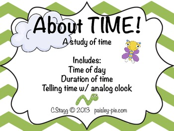 MATH: About TIME-  A Study of Time (Duration/ Analog Time Hour & 1/2 Hour)
