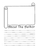 About The Author Sheet Scroll Design