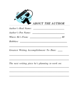 About the Author Sheets for Publishing