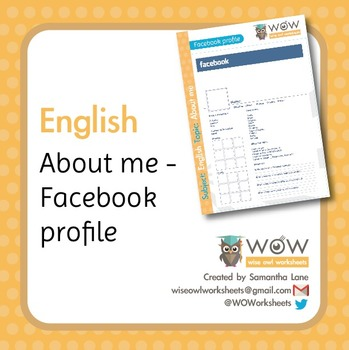About me - Facebook profile