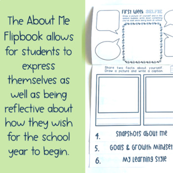 First Day of School - Back to School flipbook  { Paper + Digital } Grade 2 -3