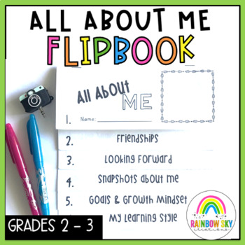 About me Flipbook - Back to School  { Paper } Grade 2 -3