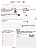 """About me/ Sobre mí  """"Get to know you"""" activity sheets in Spanish and English."""