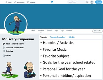 About me - Twitter Page