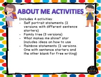 About me activities