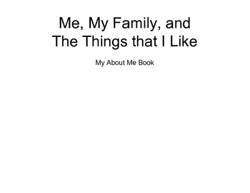 About me book pages