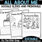 Editable All About Me | First Day of School Activities | Back to School
