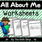 All About Me --- Personal information worksheets for Grade 1 and 2