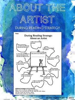 About the Artist Worksheet (During Reading Strategy)