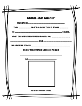 About the Author - Fill in the Blank - Printable