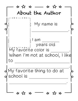 About the Author Page
