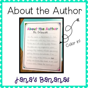 About the Author Page {Writing}