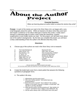 About the Author Project