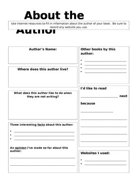 About the Author Research Page