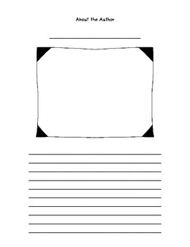 About the Author Template - FREEBIE