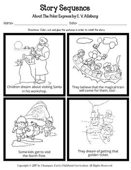 About the Polar Express by C. V. Allsburg (Kindergarten Topic Unit 14)