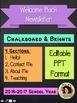 Meet the Teacher Newsletter Template- Chalkboard & Brights