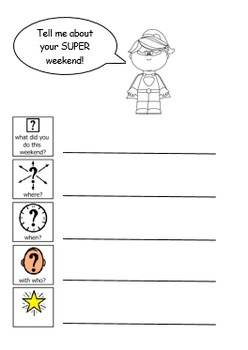 About your Weekend- editable