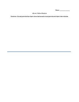 Above / Below Practice Worksheet