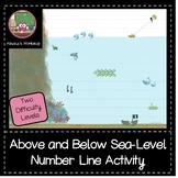 Above and Below Sea Level Number Line Activity - Differentiated
