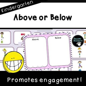 Above or Below Mat (Kindergarten Positional Words Activity, K.G.1)