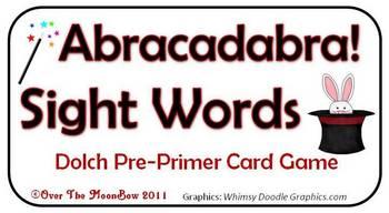 Abracadabra! Dolch Pre-Primer Sight Words Game
