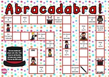 Abracadabra- Magic Theme Game Board