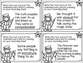 Vocabulary and Dictionary Task Cards Practice