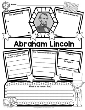 Abraham Lincoln Research Organizers for Poster Projects