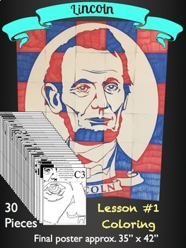 Abraham Lincoln Collaborative Poster - Great Presidents Day Activity