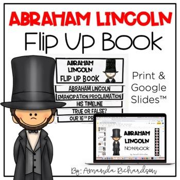 Abraham Lincoln Flip Up Book