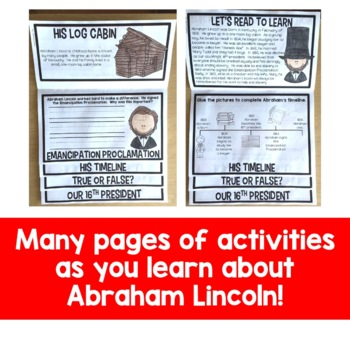 Abraham Lincoln Flip Up Book