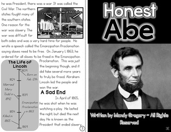 Abraham Lincoln: A Differentiated Nonfiction Resource for 3rd Grade
