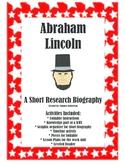 Abraham Lincoln A Mini Research Biography Lap book