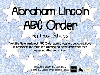 Abraham Lincoln ABC Order,