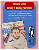 Abraham Lincoln Activity/Coloring Worksheet