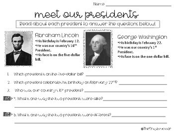 Abraham Lincoln Activities, Graphic Organizers, Worksheets, and More!