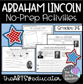 Abraham Lincoln Activities, Graphic Organizers, Worksheets