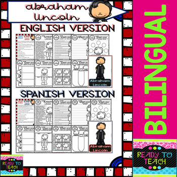 Abraham Lincoln - American Presidents - Worksheets and Readings - Bilingual