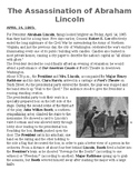 Abraham Lincoln Assassination Article with Questions