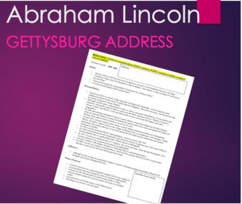 Abraham Lincoln Background Preview Handout (Option: Gettysburg Address)
