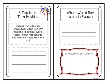 Abraham Lincoln Biography Mini Book Activity, Quote Posters, President's Day
