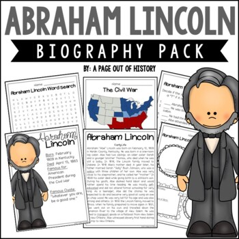 Abraham Lincoln Biography Pack (U.S. Presidents)