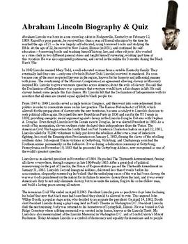 Abraham Lincoln Biography & Quiz